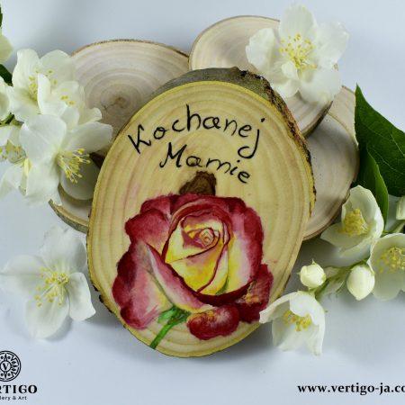 obraz na drewnie Róża dla Mamy