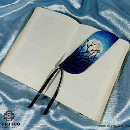 Drewniana zakładka do książki Gałęzie na Tle Księżyca