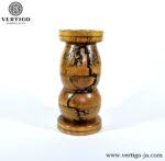 Drewniany ręcznie toczony i wypalany wazon Zambezi