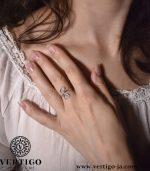 Srebrny pierścionek w stylu boho