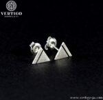 Srebrne kolczyki na sztyfty trójkąty równoboczne