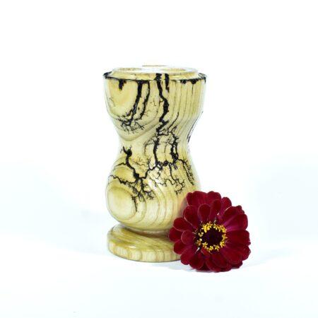 Drewniany wypalany świecznik Bielsko-Biała - toczony świecznik