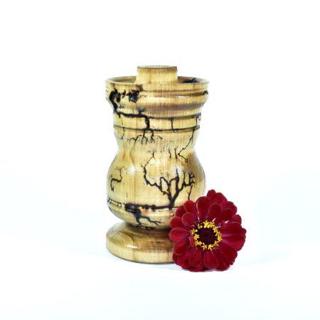 Drewniany wypalany świecznik Calgary - ręcznie toczony