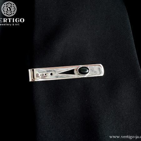 Silver tie clips