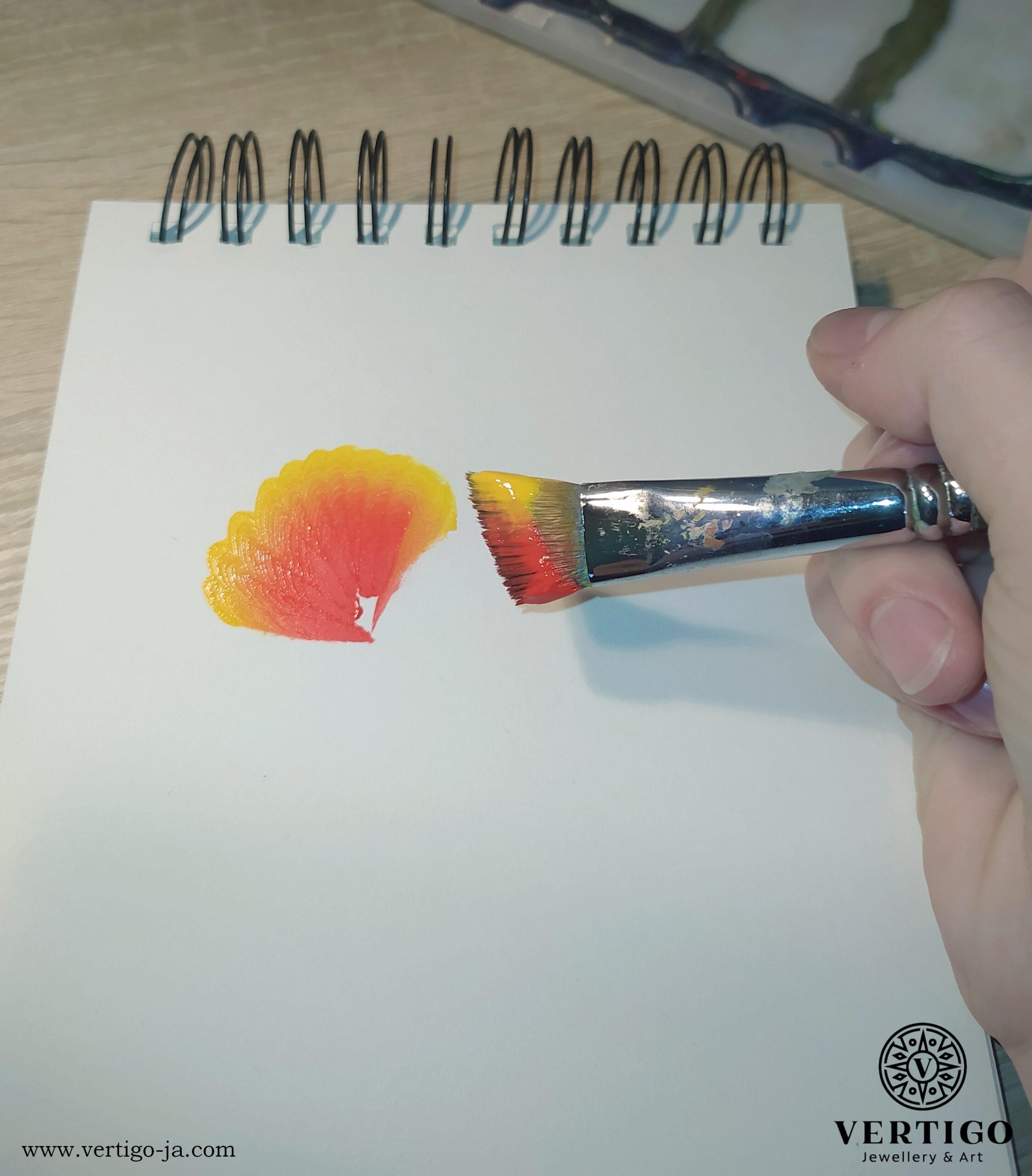 jak malować technika one stroke painting